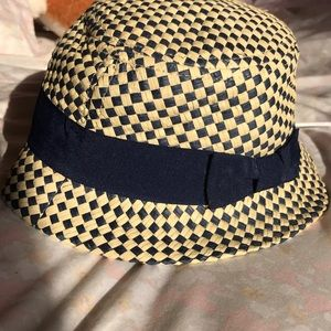 Gap - Toddler hat blue and beige navy bow